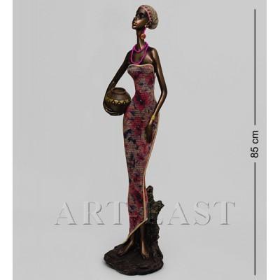 """Статуэтка """"Африканская леди"""" 19,5x19x85 см., полистоун"""