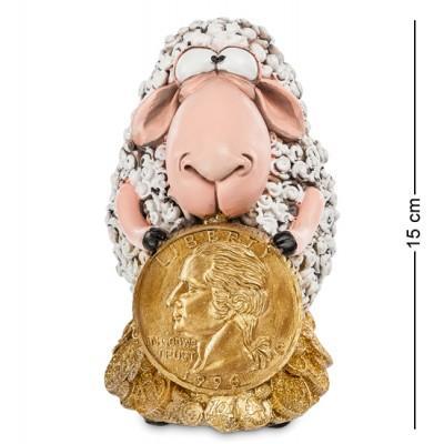 """Фигурка-копилка Овца """"Монета на Удачу"""" 10x13x15 см., полистоун Warren Stratford Канада"""