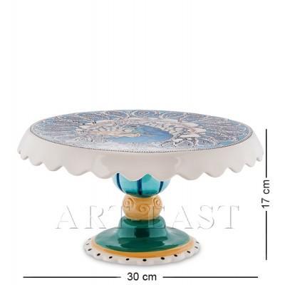 """Тортовница """"Павлин"""", 17 см., Blue Sky, Италия"""