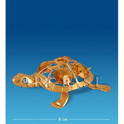"Фигурка ""Черепаха"" 8x6,5x1,5 см., с цвет. крист. Crystal Temptations, США"