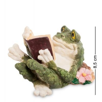 """Фигурка """"Лягушка с книгой"""" 12,5x8,2x8,5 см., полистоун Sealmark, США"""