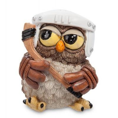 "Фигурка Сова ""Юный хоккеист"" 7x6,5x8 см., полистоун Warren Stratford Канада"
