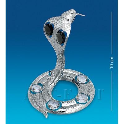 """Фигурка """"Змея"""" 10 см., посеребр. с цвет. крист. Crystal Temptations, США"""