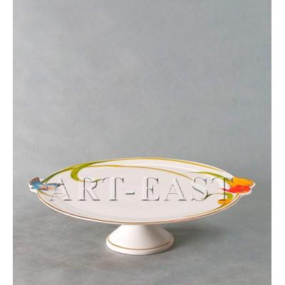Тортовница Тюльпаны ALF 55-072 фарфор