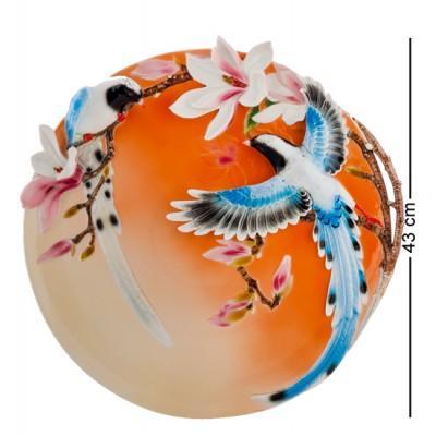 "Декоративная тарелка ""Весенние мотивы"" 43 см., фарфор Pavone, Италия"