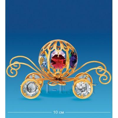 "Фигурка ""Карета"" 10 см., с цвет. крист. Crystal Temptations, США"